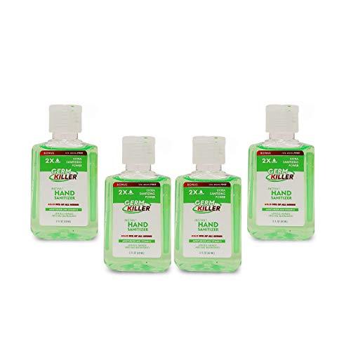 Scented Mini Hand Sanitizer Gel [4 Pack, Lemon, Green aloe] Small Mini Travel Size 2 oz Portable Pocket Size Flavored Hand Sanitizer Gel for Kids and Adults