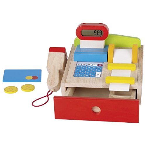 Goki–Registrierkasse mit Scanner–Taschenrechner–echtes Display, 8651575, 22x 18x 14cm
