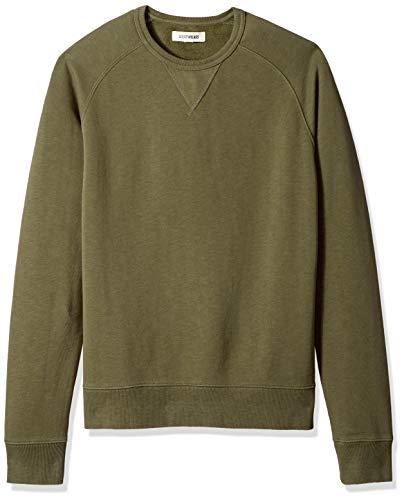Amazon Brand - Goodthreads Men's Crewneck Fleece Sweatshirt, Olive, Large