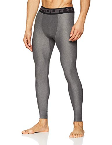 Under Armour HeatGear 2.0, Leggings Uomo, Grigio (Carbon Heather/Black 090), L