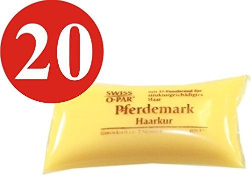 20 x Swiss O-Par Pferdemark Haarkur Kissen je 25 ml