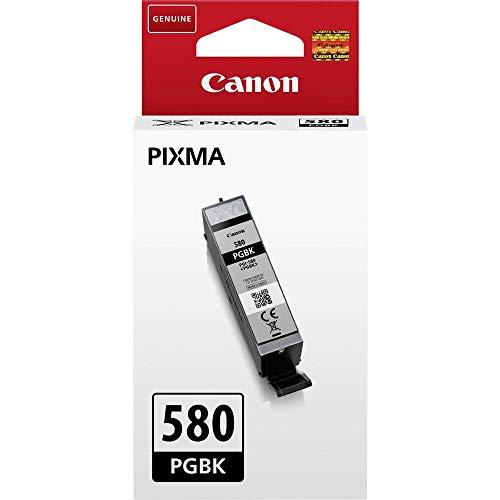 Canon PGI-580 BK Druckertinte - Pigment Schwarz - 11,2 ml für PIXMA Tintenstrahlrucker ORIGINAL