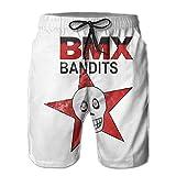 Aifreedom1 BMX Bandits Summer Must-Have Beach Men's Beach Shorts White