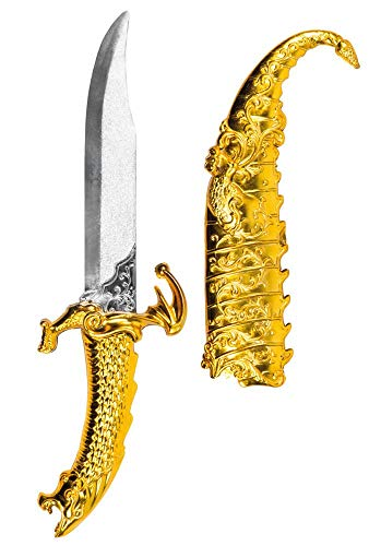 shoperama Arabischer Dolch mit Scheide 33 cm Messer Kostüm-Zubehör 1001 Nacht Orient Sultan Prinz Araber Scheich Märchen Aladin Aladdin