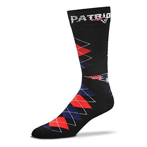 NFL Team Black Argyle-Fan-Nation-Socken – Einheitsgröße (New England Patriots)