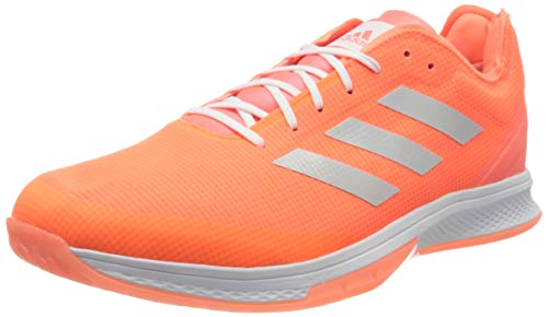 adidas Mens Counterblast Bounce Handball Shoe, Signal Coral/Silver Metallic/Footwear White, 43 1/3 EU