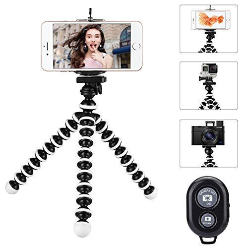Trípode para teléfono, estilo pulpo portátil y ajustable Mini selfie Stick trípode...