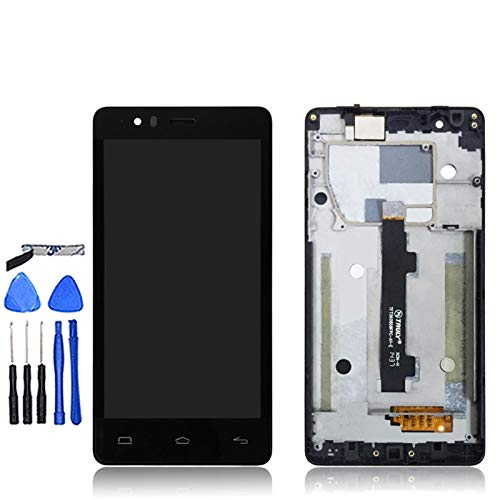 MOLIBAIHUO Compatible con BQ AQUARIS E5 E5S E5 4G LCD LCD Pantalla LCD Completa + Pantalla táctil Tactil con Frame Digitizer Pantalla Compatible con E5 HD E5 FHD LCD LCDs (Color : BQ E5 0858)