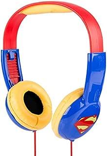 Superman HP2-03390 Kid Safe Over-Ear Headphones W/Volume Limiter by Sakar, Adjustable Headband, Comfortable Ear Cups, Great Audio, Kids Safe Technology, Red Blue