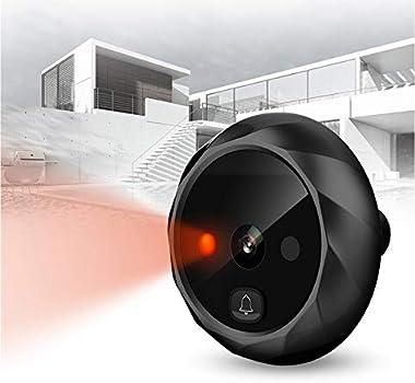 digitharbor Video Door Scope Viewer Build-in 600mAh Lithium Battery+cyclic Storage Digital Peephole viewer Door Camera Door O