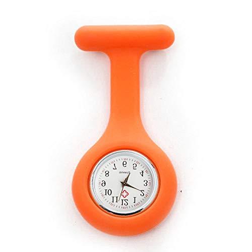 Reloj de silicona para enfermera, broche, túnica, reloj con batería gratis Doctor Medical, Regalo de San Valentín