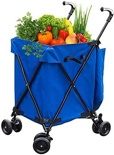 Carrello spesa carrello pieghevole in cartone, carrello spesa su ruote, cassa pieghevole, carrello box per casetta da giardino, cucina, magazzino acquirente-Blue