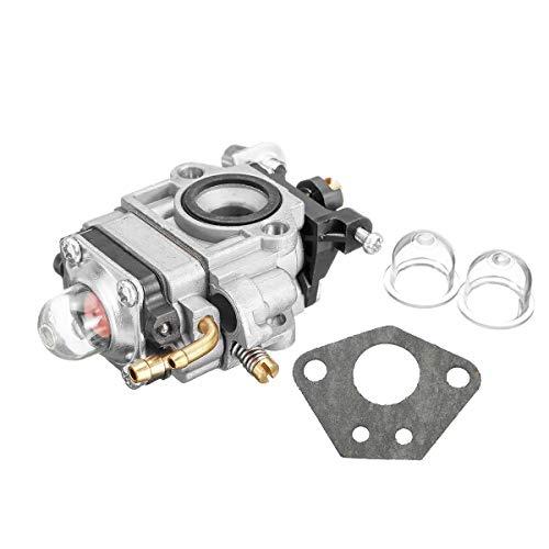 Carburador de serie con filtro de aire Kit For 43cc 47cc 49cc 50cc 2 Tiempos bolsillo vespa de la bici MAKITA DBC260L Desbrozadora carburador Carb con la junta del bulbo Reemplazo para carburador Carb