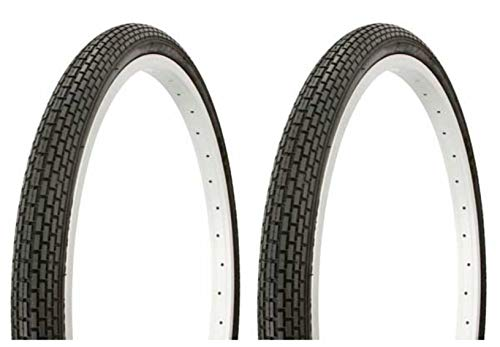 Lowrider Tire Set. 2 Tires. Two Tires Duro 24' x 1.75' Black/Black Side Wall Bike Tires, Bicycle Tires,Beach Cruiser Bike Tires, Cruiser Bike Tires