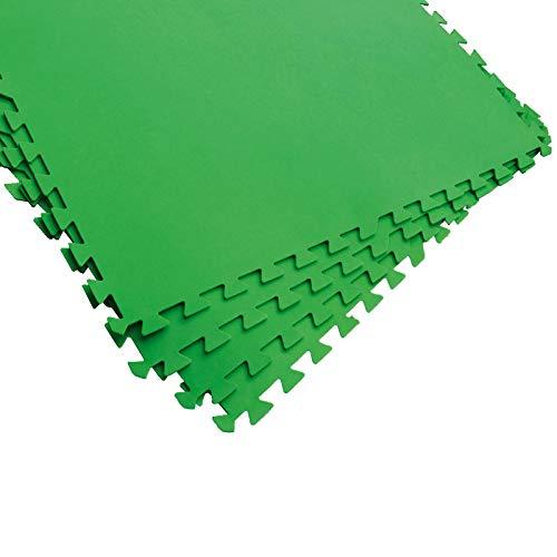 Bestway 58265 | Flowclear - Tappeto Sotto Piscina, 81X81 cm, Colore Verde, 8 Fogli Per Confezione