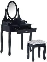 Homcom Dressing Table Vanity Set Vintage Desk Stool Mirror Makeup Furniture Shab