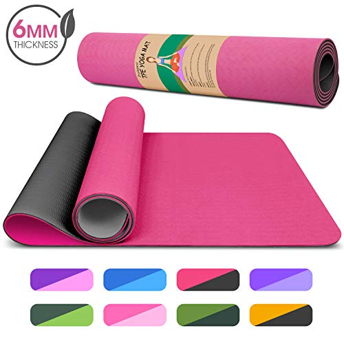 Dralegend Yoga Mat Exercise Fitness Mat  High Density NonSlip Workout Mat for Yoga Pilates amp Exercises Anti  Tear Sweat  Proof Classic 1/4 Inch