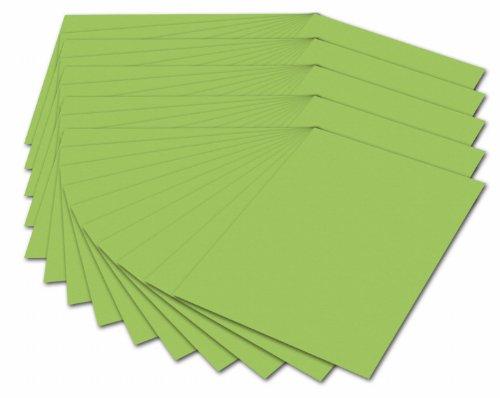 folia 614/50 51 - Fotokarton DIN A4, 300 g/qm, 50 Blatt, hellgrün - zum Basteln und kreativen Gestalten von Karten, Fensterbildern und für Scrapbooking