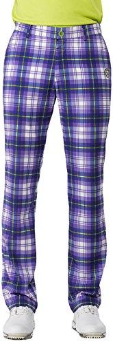 IJP Design, Pantaloni Lunghi Tecnici Uomo, Motivo: Tartan, Viola (Purple), 28-32