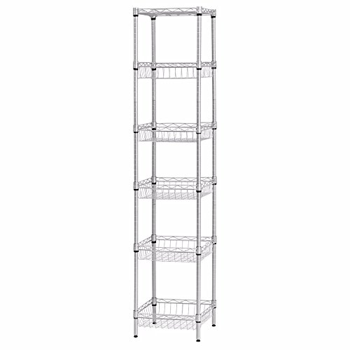 Narrow Wire Shelving Unit