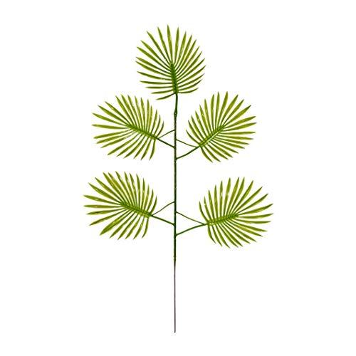 KAERMA Simulation Green Plant 5 Fork Palm Blatt Grünes Blatt Wald Brautkleid Indoor-Grün (Size : Light Green)