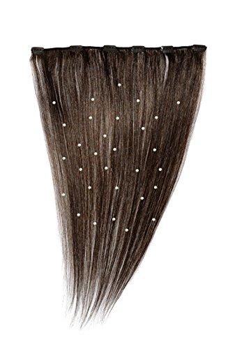 American Dream - A19/QFC12/18/4B - 100 % Cheveux Naturels - Pièce Unique Extensions Cristallisées à Clipper - Couleur 4B - Tabac - 46 cm