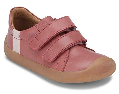 Bundgaard Sneaker aus Leder mit Klett in Soft Rose Nullabsatz, Weite M - W Walker 101134 (Numeric_30)