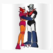 Robots Maziger Love Anime Mazinger Comic Aphrodite Zayaka Z Koji El mejor y más nuevo póster para la sala de decoración del hogar de arte de pared
