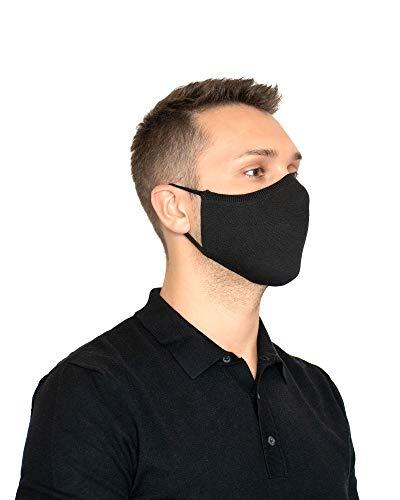 Relaxsan UNIMA [Schwarz] – Höflichkeitsband - leichtes und atmungsaktives Dryarn-Garn und silbernes X-Static-Garn - waschbares wiederverwendbar