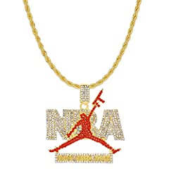 Style/ Design:These are classic tennis chain with NBA basketball sports related pendants styles which made with incredible details and craftsmanship. Feature: Three wearing way:1. cz tennis chain + pendants ; 2. cz tennis chain only; 3.pendants + oth...