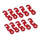 Seguridad 10 unids aleación de Aluminio campaña Tienda guyline apretador toldo toldo Corredor Cuerda tensores para campaña Tienda de campaña al Aire Libre pequeñas Herramientas Luz (Size : Red)