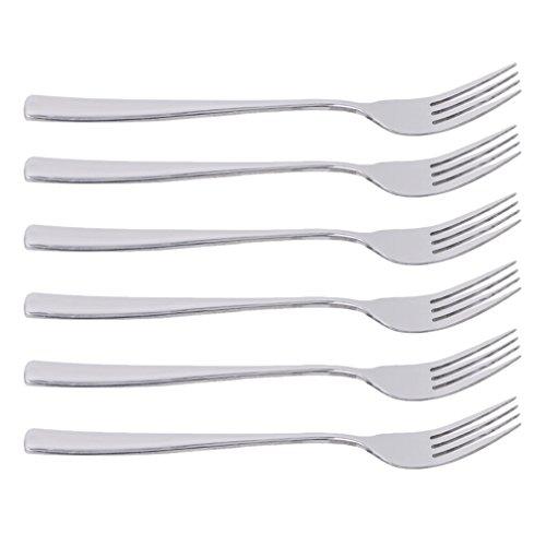 Pinhan 6 Stück Edelstahl Essgabeln Tischgabeln Hochleistungs-Spiegelpoliergabeln Set