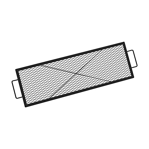 onlyfire Rectangle X-Marks Fire Pit Cooking Grate, 44-Inch