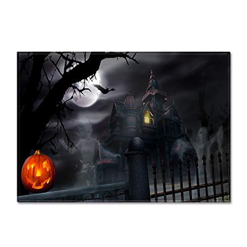La Alfombra Especial De Halloween Es Adecuada Para La Decoración De Fiestas, La Gran Almohadilla Para Los Pies Para La Decoración Navideña, Alfombrilla Gruesa Antideslizante E Impermeable, Negro