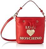 Love Moschino Precollezione SS21 | Borsa a Secchiello PU da Donna, Spalla, Rosso, Normal