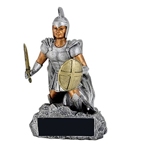 Awards and Gifts R Us Customizable Trojan/Spartan Mascot Trophy, includes Personalization
