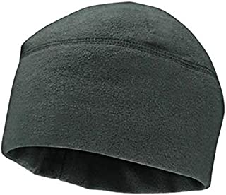 Unisex Winter Solid Color Soft Warm Watch Cap Polar Fleece Thickened Military Army Beanie Hat Windproof Outdoor Tough,Gray,L