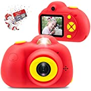 Veroyi Kids Camera with 16GB Micro SD Card 8MP Rechargeable Digital Front and Rear Selfie Camera with 2 Inches Screen Child Camcorder Toys Gift for 4-10 Years Old Boys and Girls (Red)