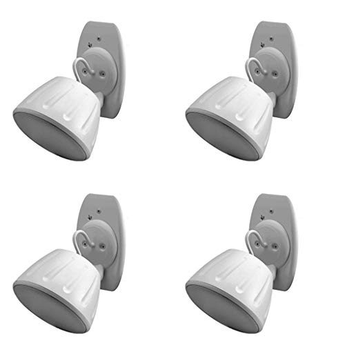 Read About 4 x White 3 Full Range 40W 8Ohm Surface Mount Speaker Outdoor Home Audio