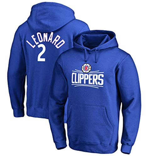 LMSNB Kawhi Leonard #2 Para Hombres Baloncesto Los Ángeles Clippers Sudadera Con Capucha Street Retro Camisa Moda Chaqueta Casual Entrenamiento Sudadera Con Capucha - Azul