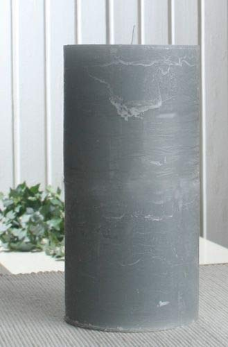 Rustik-Stumpenkerze, 20 x 10 cm Ø, grau