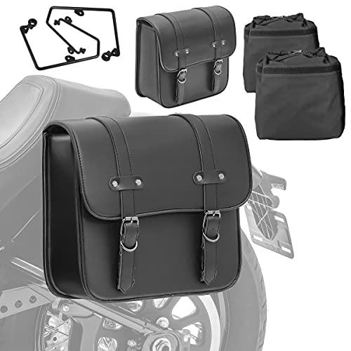 Set 2X Alforja + Soporte para Harley Sportster 1200 Custom 96-15 RNO-P