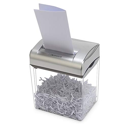 Best Deals! LEFJDNGB Desktop Mini Paper Shredder Electric High Power Household Small Document Powder...