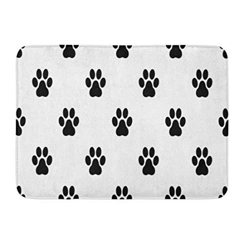 MARIODP Alfombrilla Antideslizante para Puerta de baño Pata de Dibujos Animados Perro Gato Silueta Animal Oso Negro Catanddog 15.8'x23.6'