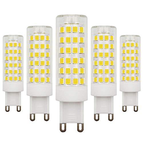G9 LED-lampen, koud wit, 6000 K, dimbaar, 4,5 W, komt overeen met 40 W-50 W, 220 V-240 V, 5 stuks
