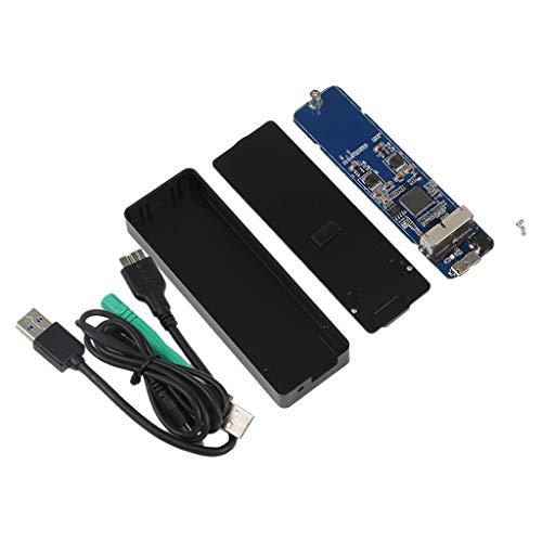 Shiwaki Mini USB 3.0 a SSD HDD Adaptador de Caja Negro Funda para MacBook Air/Pro