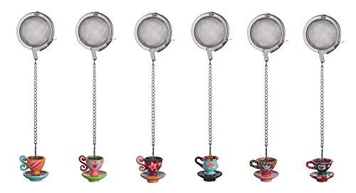 Excelsa Lollypop Filter The 'Dekoration Tasse, Edelstahl, Mehrfarbig, 11x 4x 3cm