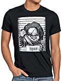 style3 Chucky 1988 T-Shirt Homme Halloween Horreur poupée Mal, Taille:S