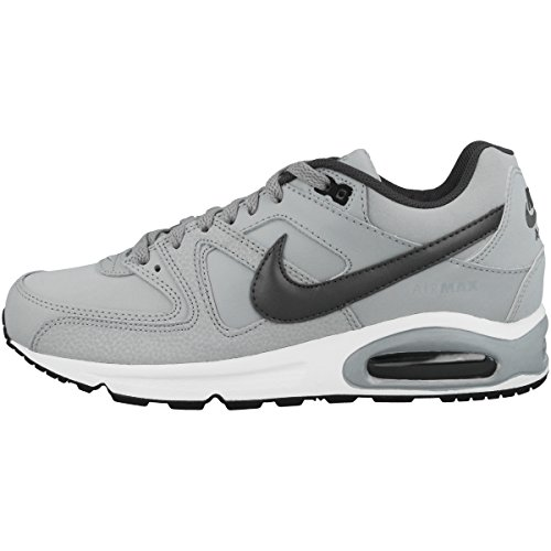 Nike Herren AIR MAX Command Leather Laufschuhe, Grau (Wolf Grey/MTLC Dark Grey/Black/White 012), 43 EU