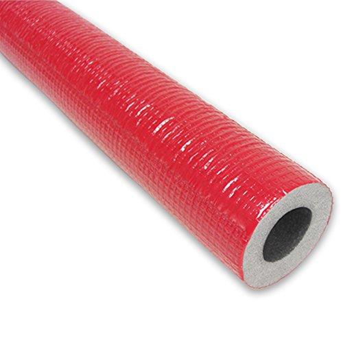 2m PE-Rohrisolierung mit Schutzhaut rot DN 25-28mm - Isolierstärke 13mm